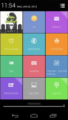 UCCW Theme Grids v1.4 apk  Requirements:Android 2.2+  Overview:Presenting a colorful uccw theme - Grids!  It looks like a colorful version of JellyBean 4.2.1 quick menu.