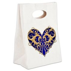 Valentine Heart Canvas Lunch Tote > Lunch Bags > Atteestude T-Shirts And Gifts  #school supplies