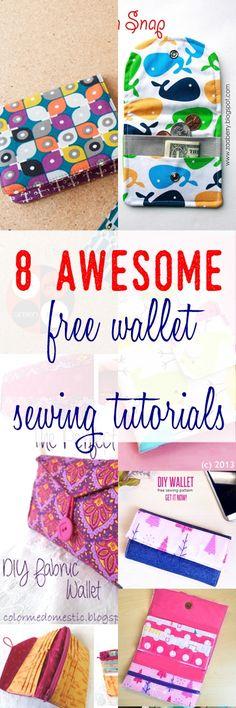 kids wallet tutorial | bi-fold wallet tutorial | how to sew wallet with pockets | fabric wallet tutorial