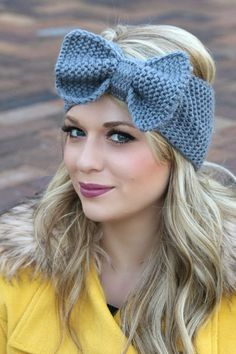 Big Bow Crochet Head Warmer