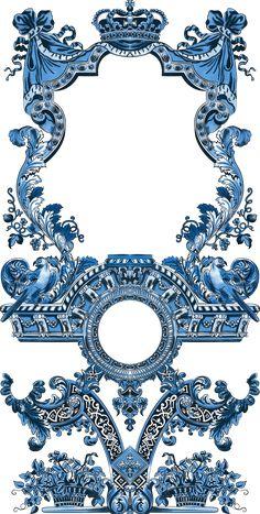 Textile Prints, Textiles, Textile Design, Ornament Drawing, Stencil Painting On Walls, Baroque Pattern, Border Design, Pattern Design, Album Design