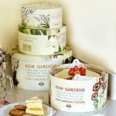 4 Kew Garden Cake tins - From Lakeland