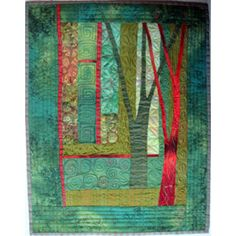 improvisational tree quilt class at Quilters Haven