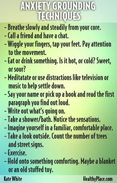 """21 anxiety management tips to help you cope with stress, anxiety, panic and PTSD. From Kate White. Treating Anxiety Blog."" www.HealthyPlace.com"