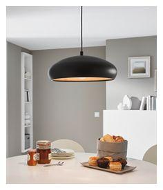 Eglo Black and Copper Mogano 1 Pendant Light - Fitting Type from Dusk Lighting UK