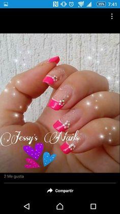 Francés y flor Nails, Painting, Beauty, Flower, French Nails, Finger Nails, Ongles, Painting Art, Nail