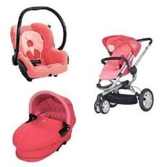 Quinny 2012 Buzz Stroller WITH Dreami Bassinett and Maxi-Cosi Mico Car Seat (Pink). This Set includes: 1 stroller, 1 bassinet and 1 car seat.