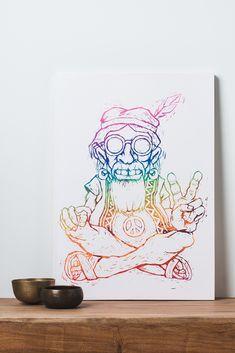 $34.95 Chuck the Hippie Canvas Art