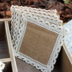 65 Creative Easy Craft Ideas That Are Fun Yet Useful Lovely Jute Fabric DIY Coasters Made with Lace The post 65 Creative Easy Craft Ideas That Are Fun Yet Useful appeared first on Lace Diy. Burlap Crafts, Diy Home Crafts, Easy Diy Crafts, Fabric Crafts, Sewing Crafts, Sewing Projects, Arts And Crafts, Jute Fabric, Fabric Glue