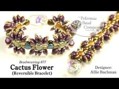 Cactus Flower Reversible Bracelet (Tutorial) - YouTube, all supplies from www.potomacbeads.com