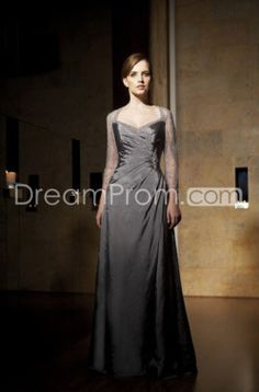 US $123.39 Free Shipping Taffeta Deep Gray Elegant Floor-length Prom/Bridesmaid Dresses