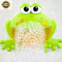 92a2a6fc8 Baby Bath Toy Cute Big Frogs Automatic Bubble Maker Music Children Bathtub  Machine Bathing Toys for baby kids new