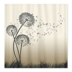 Dandelion Wishes Shower Curtain on CafePress.com