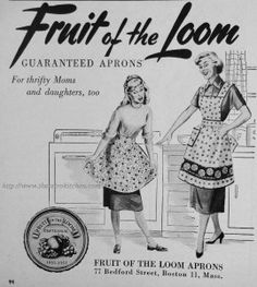 My grandmother wore full aprons made of print fabric that protected her clothing.