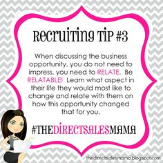 The Direct Sales Mama: Direct Sales Recruiting Tip Farmasi Cosmetics, Mary Kay Cosmetics, Arbonne, Direct Sales Recruiting, Direct Sales Tips, Direct Selling, Direct Sales Party, Network Marketing Tips, Direct Marketing