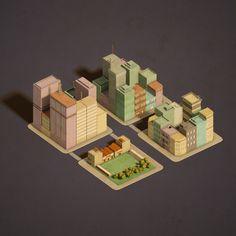 block urban building 3d max