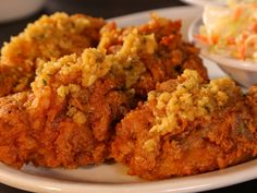 Garlic Fried Chicken recipe from Diners, Drive-Ins and Dives via Food Network