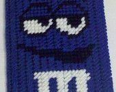 Plastic Canvas Blue M & M Scissor Case Cover