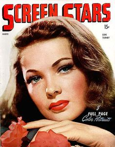 Gene Tierney cover girl
