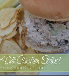 Cucumber Dill Chicken Salad #Recipe #lunchbox
