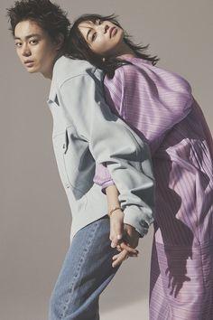 Nana Komatsu, Japanese Couple, Japanese Artists, Couple Shoot, Relationship Goals, Rain Jacket, Windbreaker, Raincoat, Sisters