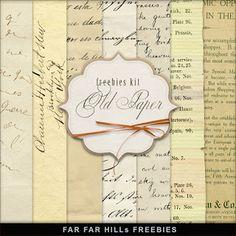 Far Far Hill: New Freebies Kit of  Old Paper