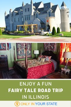 If you're into dungeons, dragons, kings, queens, and castles, you'll love this magical and family friendly fairy tale road trip in Illinois. Spend the night in a charming villa or bring the kids to a tower playground. Travel And Tourism, Travel Usa, Travel Tips, Vacation Destinations, Vacation Spots, Vacations, Family Trips, Family Travel, Fun Places To Go