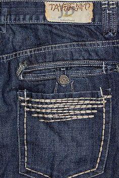 Mens Taverniti So Jeans Meg 19 Thick Stitch Dark Button Fly 40 x 33 Buckle