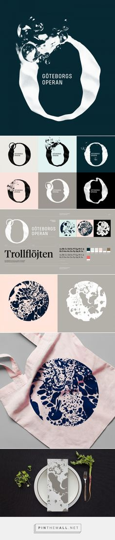 Brand New: New Logo and Identity for Göteborgsoperan by Happy F&B
