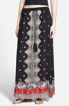 ANGIE+Print+Maxi+Skirt+(Juniors)+available+at+#Nordstrom