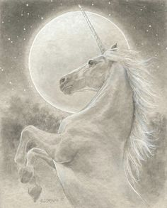 Image shared by Amy Melampy. Find images and videos about art, fantasy and unicorn on We Heart It - the app to get lost in what you love. The Last Unicorn, Real Unicorn, Unicorn Horse, Unicorn Art, Magical Unicorn, Unicorn Poster, Fantasy Unicorn, Unicorn And Fairies, Unicorns And Mermaids