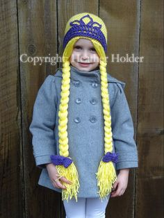 Rapunzel Crocheted Hat Pattern  Instant Download by HHCrafts