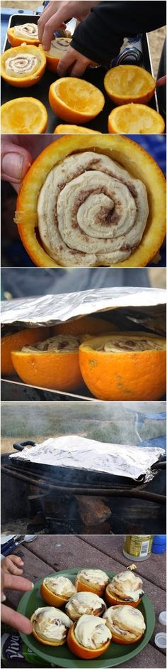Campfire Cinnamon Rolls....genius! Can't wait to try this!