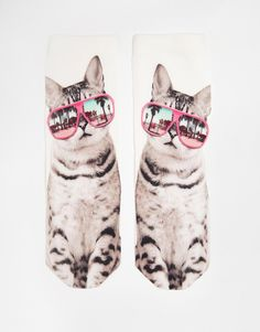 Image 3 of Monki Sissi Vacation Cat Socks