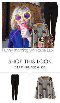 """Funny morning with cute Lux"" by mmbrambilla ❤ liked on Polyvore featuring moda ve Topshop"