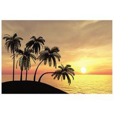 Sunset Beach Backdrop Banner - OrientalTrading.com (For Luau?)