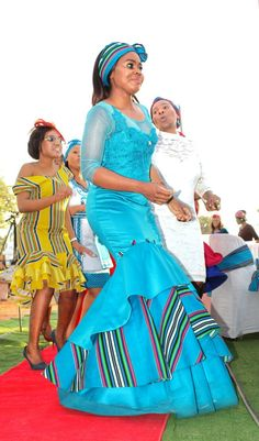 Venda Traditional Attire, Traditional Wedding Attire, Traditional Dresses, Traditional Styles, African Fashion Designers, African Fashion Dresses, African Dress, African Fashion Traditional, African Traditional Wedding