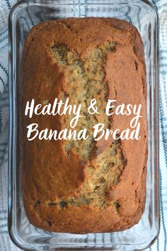 Simple Healthy Banana Bread Recipe with Honey — Wellness Blessing Honey Recipes, Banana Bread Recipes, Whole Food Recipes, Snack Recipes, Cooking Recipes, Dessert Recipes, Healthy Recipes, Snacks, Banana Bread Recipe With Honey
