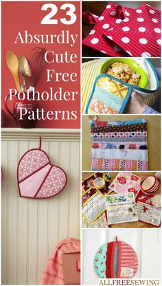 Kitchen Projects: 23 How to Make Potholders - Make DIY kitchen ideas for your kitchen.