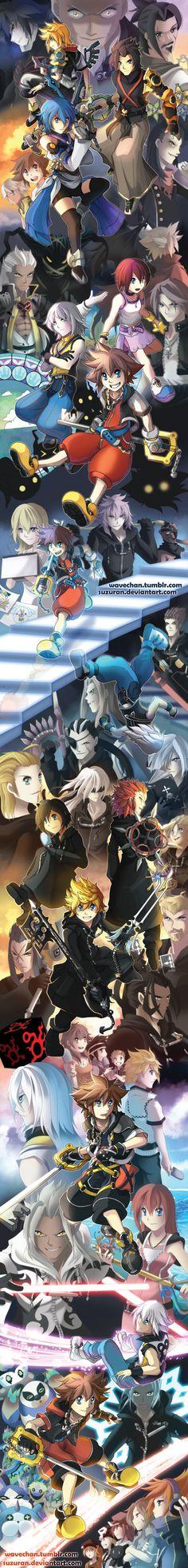 SUPER LONG Kingdom Hearts tribute by suzuran.deviantart.com on @DeviantArt