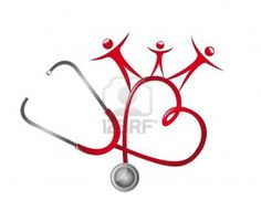 Illustration of stethoscope with people isolated over white background vector art, clipart and stock vectors.