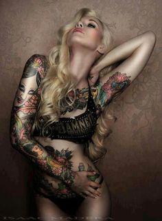 #Tattoo girl #tattoo #ink #art http://tattoo-ideas.us