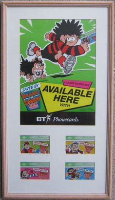 Dandy and Beano BT Phonecards