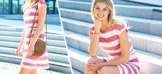 Jerseykleid nähen - kostenlose Nähanleitung » Stoffe.de Skirt Fashion, Sewing Patterns, Sewing Ideas, Free Pattern, Diy And Crafts, Summer Dresses, Handmade, Clothes, Women