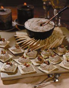 Pasta de nueces y ricotta para cocktail
