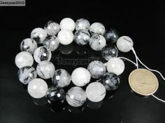 Natural Tourmaline Quartz Gemstone Faceted Round Beads 15'' 4mm 6mm 8mm 10mm   eBay