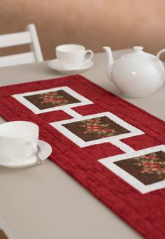 Cherry & Chocolate Table Runner by Val Laird in Handmade Vol 32 No 2
