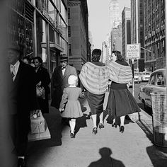 Vivian Maier - 1961, Chicago IL, (two women w/furs) / Silver Gelatin Print - 12 x 12 (on 16x20 paper)
