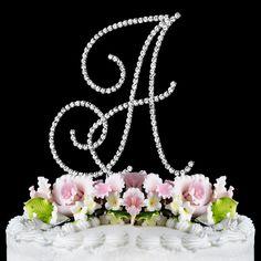 Monogram Cake Topper In Renaissance Font