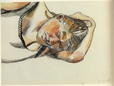 Lucian Freud | Head of Ib | 1983 Charcoal and pastel